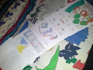 Papercraft yang belum diguntingin